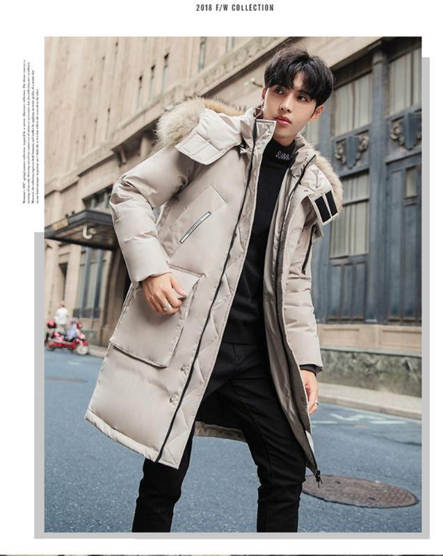 Designer Parka Fashion Thick Warm Hooded Parkas Casual Long Sleeve Hat Detachable Mens Down New Mens