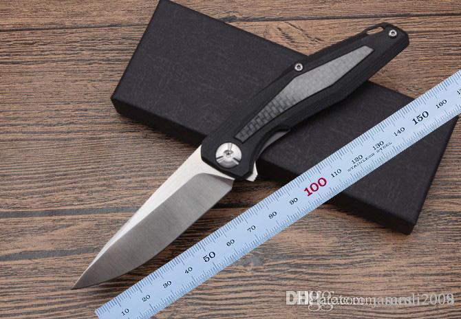 2018 новый складной нож высшего класса D2blade 60HRc черный ящик G10 + волокна ручка утилита EDC цель инструмент обороны EDC инструменты Бесплатная доставка