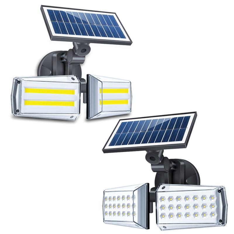 ترقية أضواء الشمسية في الهواء الطلق لوحة للطاقة الشمسية مع 3 طرق الاختياري و 270 درجة زاوية واسعة IP67 للماء المحمولة الشمسية ضوء الأمن بالطاقة