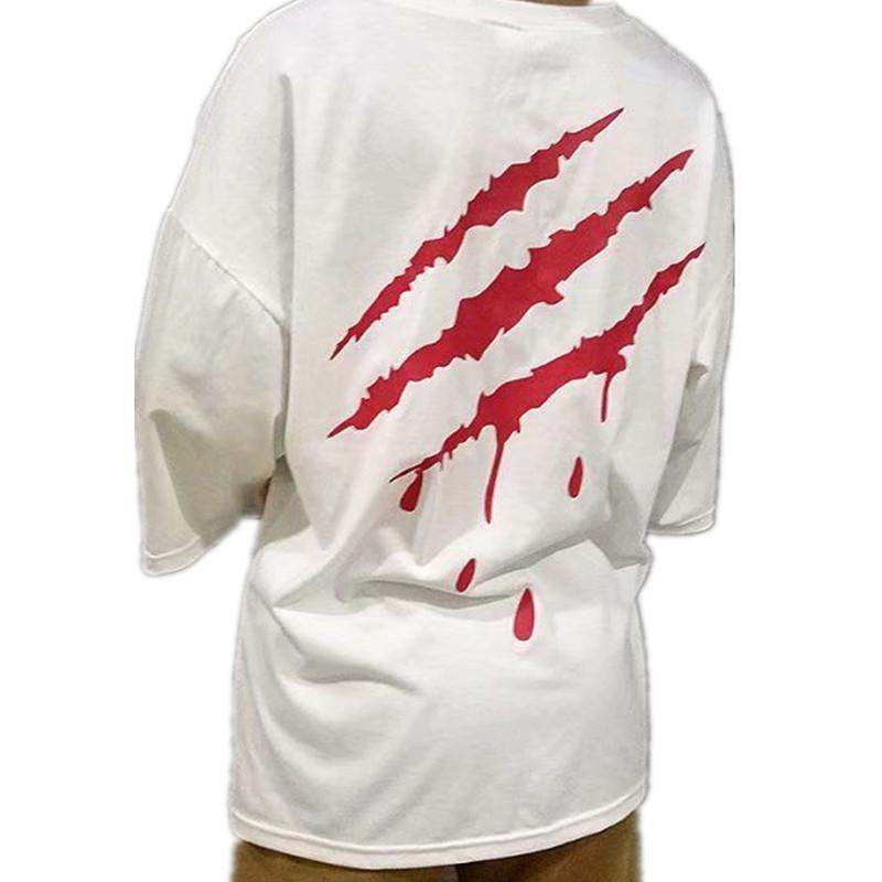 Hip Hop T Gömlek Erkekler Japonya Şeytan T -Shirt Harajuku Tshirt Streetwear Rahat Kısa Kollu Yaz Serin Siyah T Gömlek Boys S-2XL Tops