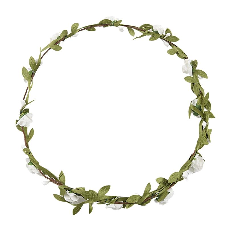 Flowers Branch Festival Wedding Garland Head Wreath Crown Floral Halo Headpiece Photography Tool Adult Size Pet Supplies