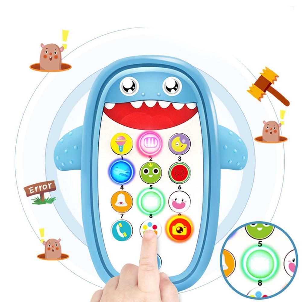 Bonito Música tubarão Telefone levou luz Whack-a-Mole educacionais criança crianças brinquedos educativos para crianças presente