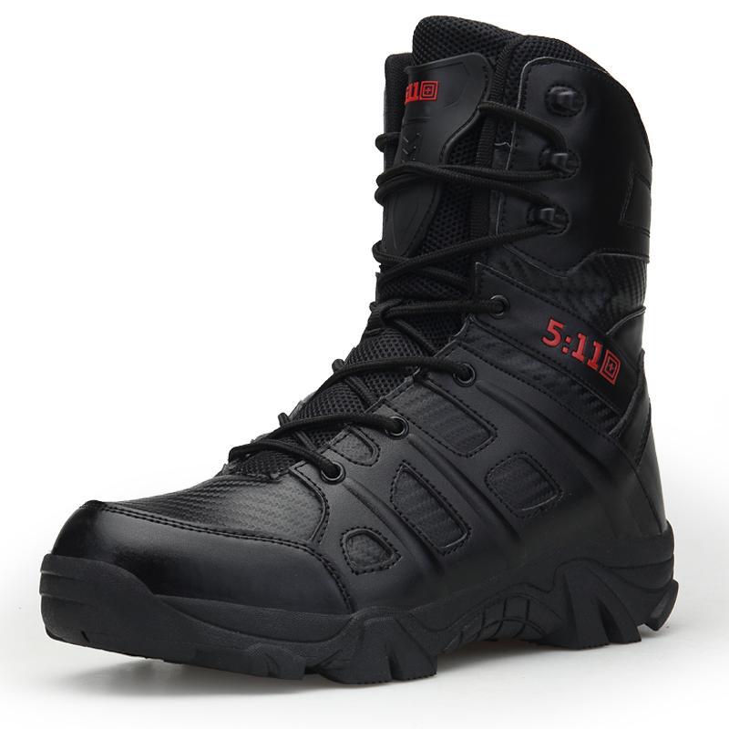 Homens Botas De Couro de Marca de Alta Qualidade Força Especial Tático Desert Combate Botas dos homens Sapatos Ao Ar Livre Tornozelo XX-339