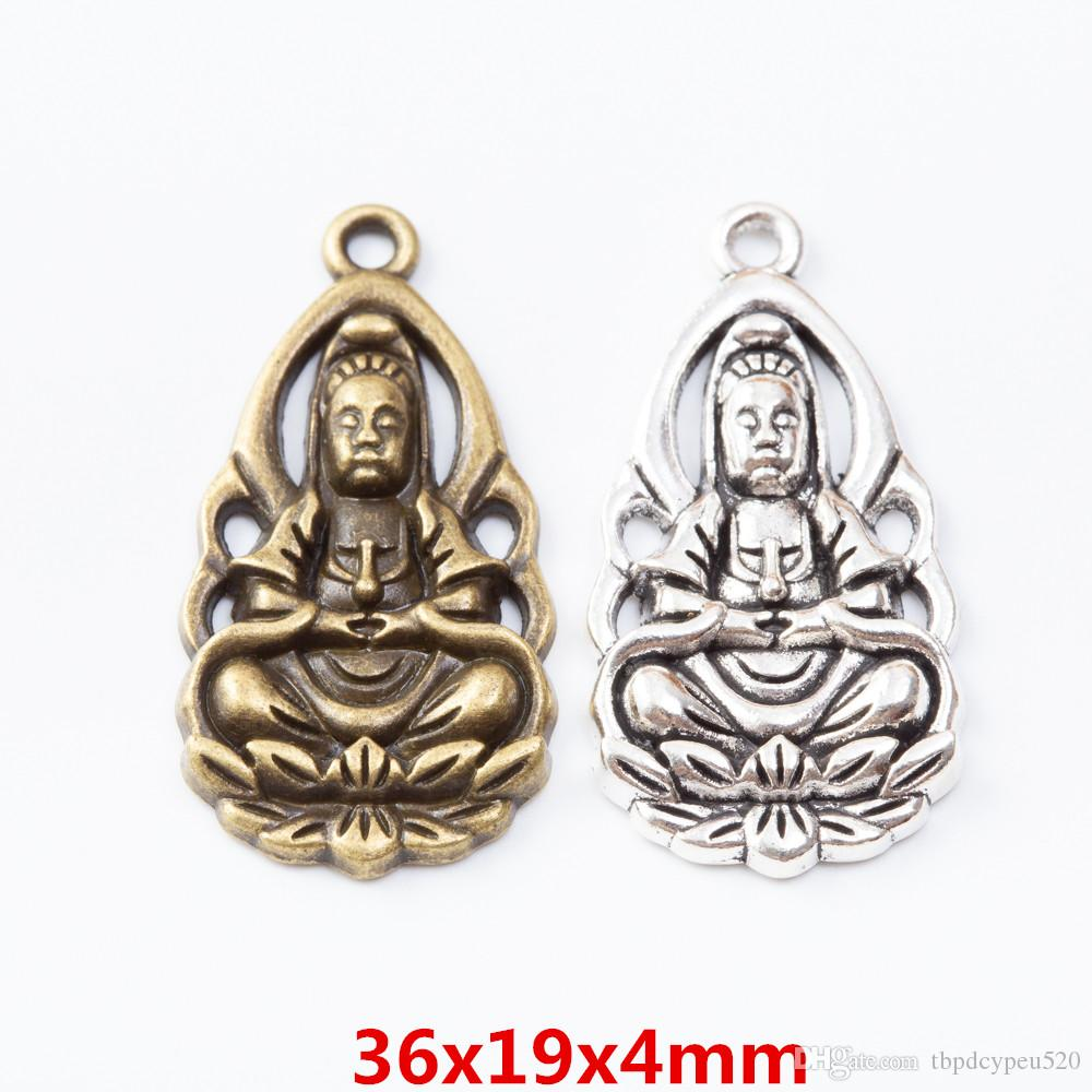 wholesale vintage metal Zinc alloy charms Guanyin pendant for diy jewelry findings 7042