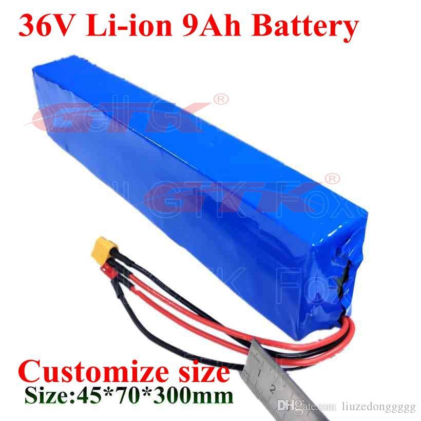 Pile au lithium de 9Ah Li ion 9000mAh 18650 bicyclette batterie 36v 10ah pour 600W Millet scooter électrique E-cyclomotoristes voiture d'équilibrage