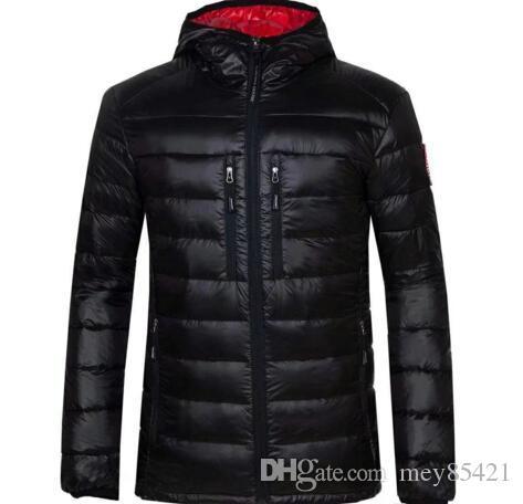 Kış Ceket Erkekler Giyim 2018 Yeni Marka Kapşonlu Parka Pamuk kanada Coat Erkekler Sıcak Kaz Ceketler Moda Palto 7696 Tutmak
