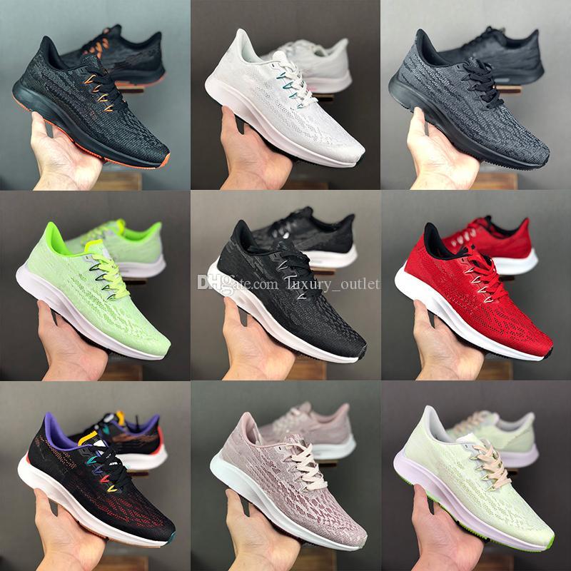 2019 nuevos mens mujeres Pegasus zapatos para correr turbo 36 para zapatillas de deporte aire de la mujer los hombres de deportes atléticos zoom de lujo entrenadores de diseño triples negro