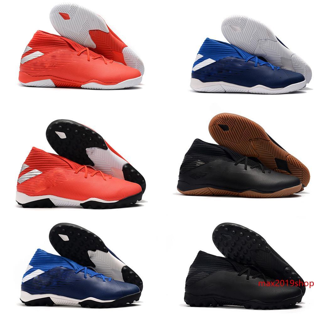 2019 новое прибытие мужчин Nemeziz 19,3 нет шнурков FG TF футбол не обувь Месси Chaussures Крытый Футбол Бутсы Обувь Быстрая Доставка