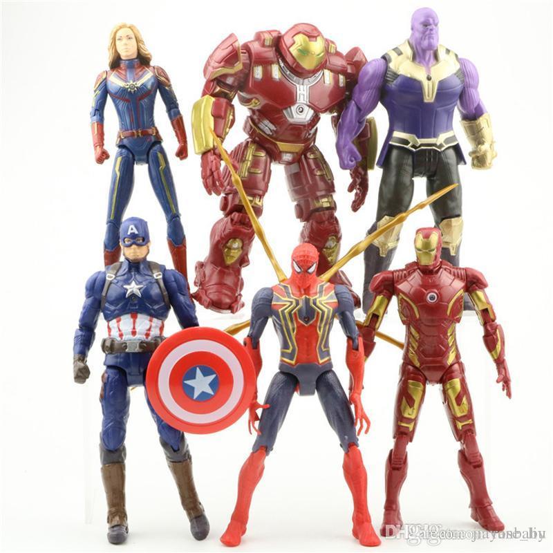 Compre 6 Estilo Vingadores 4 Capitao Marvel Figuras De Acao Boneca