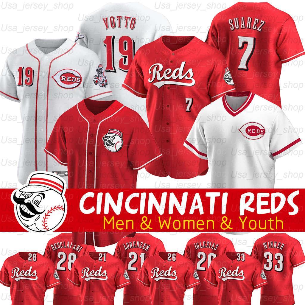 Cincinnati Johnny Bench Jersey Joey Votto Matt Kemp Ken Griffey Michael Lorenzen Jackie Robinson 2020 Saison Trikots