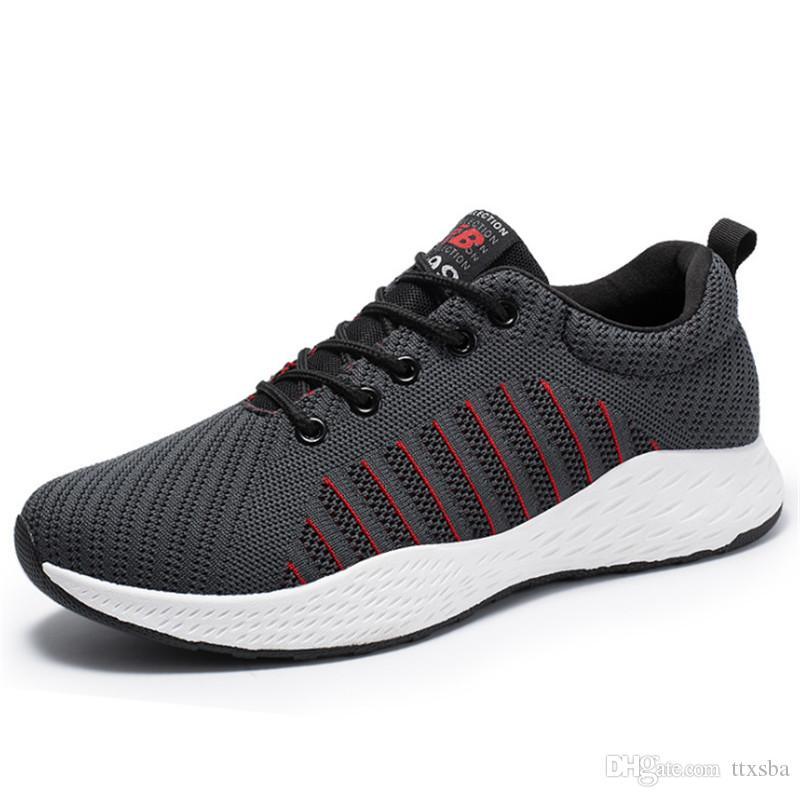 2020 جودة عالية واحدة للرجال في الهواء الطلق لبس تنفس عارضة حذاء رياضة حذاء كلاسيكي شبكة خفيفة الوزن البرية مع صندوق