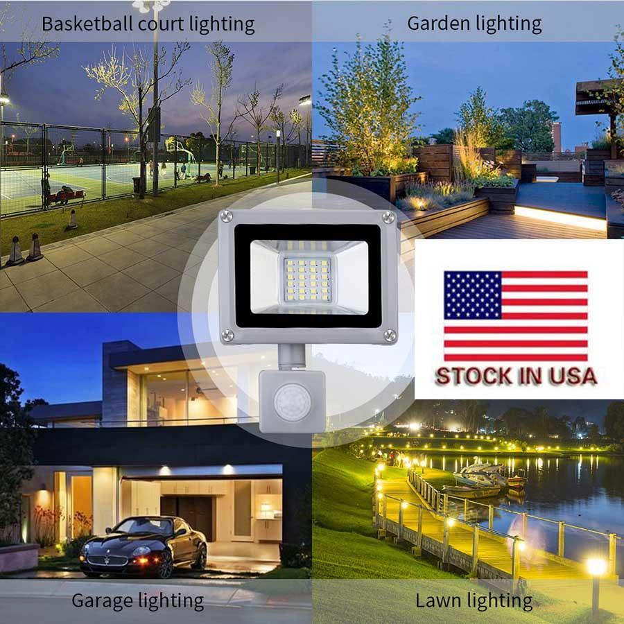 Landschaft Beleuchtung 5PCS Licht lumières Scheinwerfer 20W 220V außen helle wasserdichte Flut führte Flut LED-Outdoor-LED leuchtet kaltweiß