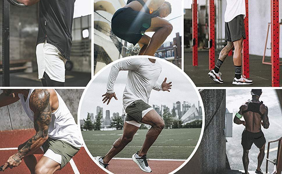 2019 2019 Heren 2 In 1 Fitness Running Shorts Mannen Shorts Camouflage Sneldrogend Training Gym Sport Joggers Korte Broek From Niceoutdoor, $40.6 |