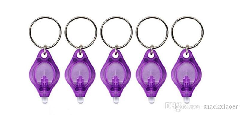 Chiave della lampada UV Mini portachiavi torcia della torcia luce del rivelatore Anello Ultraviolet Flashlight valuta Passaporti