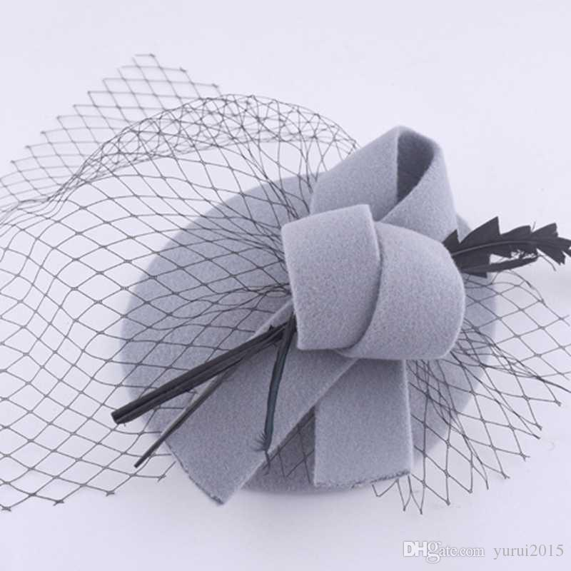 Korean Version For Women Lady Cap Fashion Veil Mesh Hair Clips Hats Wedding Party Decoration Hair Accessories Multi-Color Optional