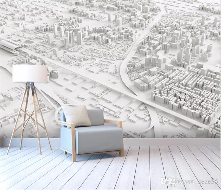 Custom wallpaper abstract city map room background wall home decor background wall mural 3d wallpaper