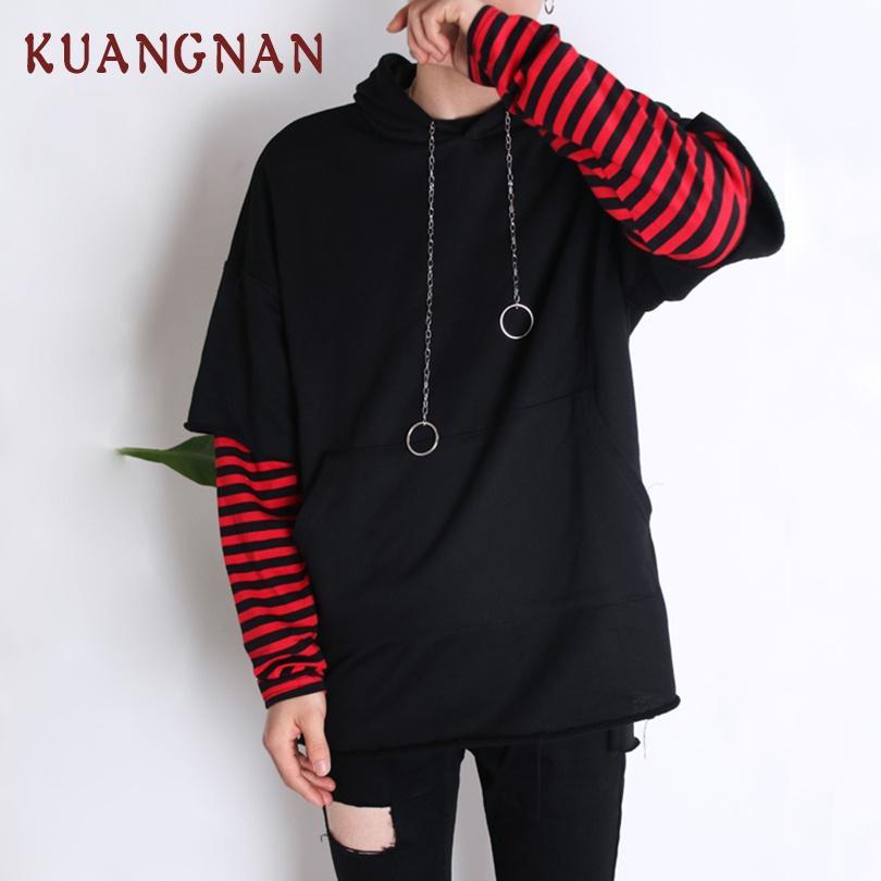 wholesale Hip Hop Hoodie Men Sweatshirt Harajuku Black Hoodies Men Clothes 2018 Autumn Japanese Streetwear Mens Hoodies XXL