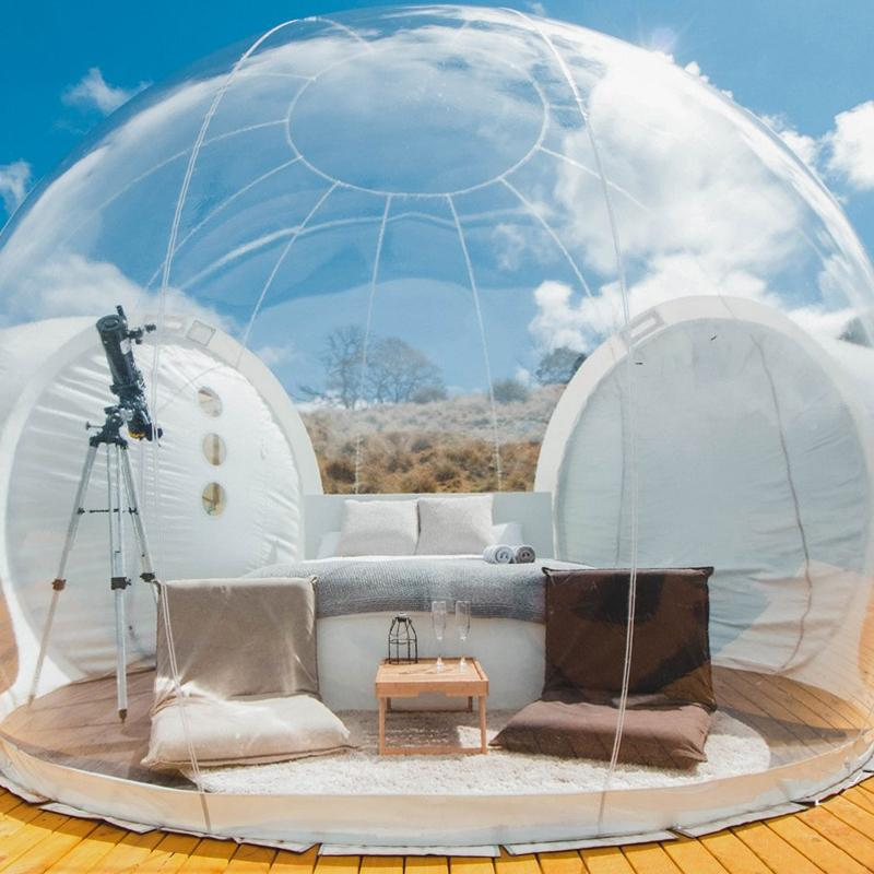 Inflatable bubble tent toy tent Outdoor Camping DIY House Dome Camping Lodge Air Bubble