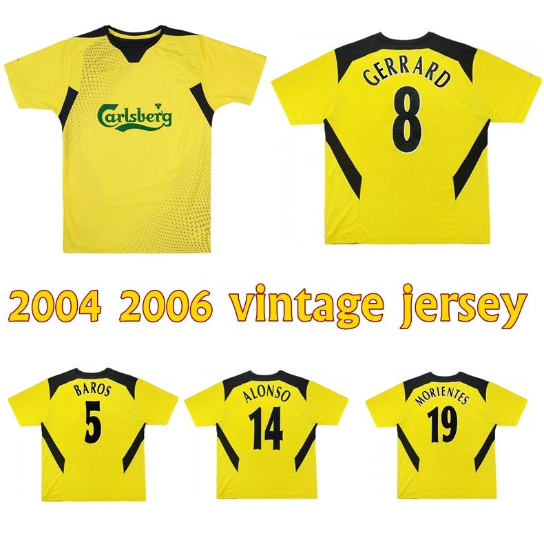 2004 2006 Alonso Gerrard retro Fußball-Trikot 2005 Baros Hamann Carragher Luis Garcia Kewell Cisse Vintage klassische Fußballhemd