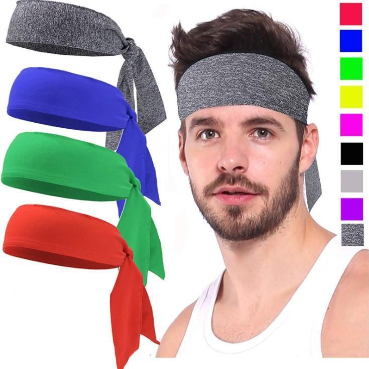 Outdoor Desporto Ténis Correndo Sólidos Workout Cor pirata Headband Unisex Ciclismo Headband cabeça banda Men Tafilete