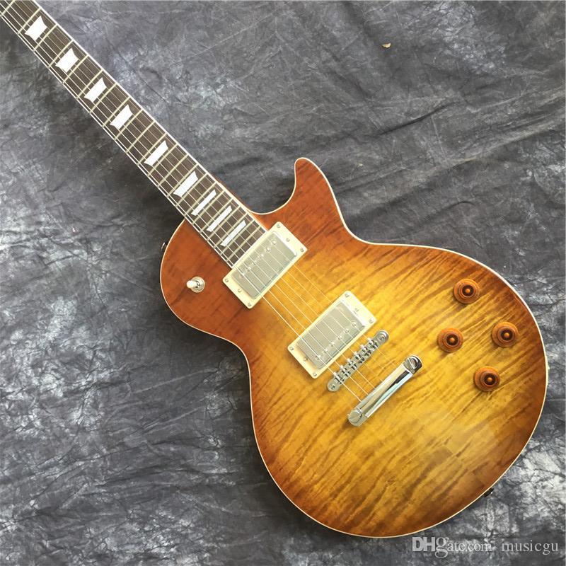 중국에서 무료 배송 브랜드의 새로운 전기 기타 브랜드 OEM + 색상 황색 전기 기타