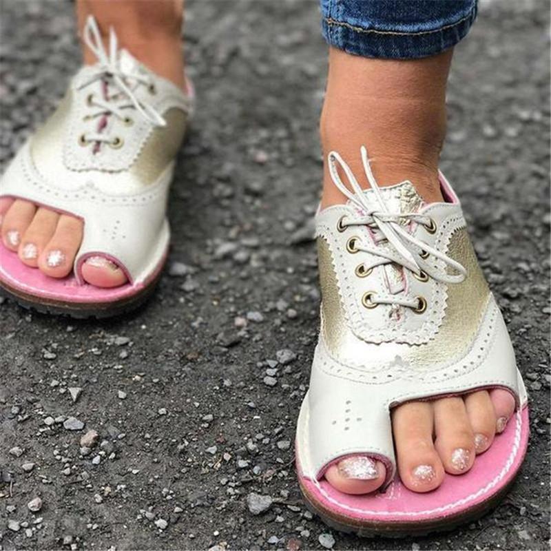 горячие дамы сандалии летние туфли женщины плоские гладиаторские сандалии женщин Богемии вскользь ботинки женщин зашнуровать открытым носком 2020
