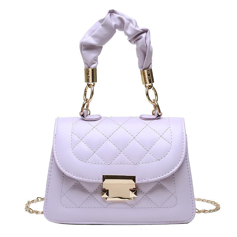 2020 Moda Verão Cadeia PU Leather Female pequeno Bolsas Ombro Crossbody Bag Lady Luxo Bolsas Mulheres saco de Designer