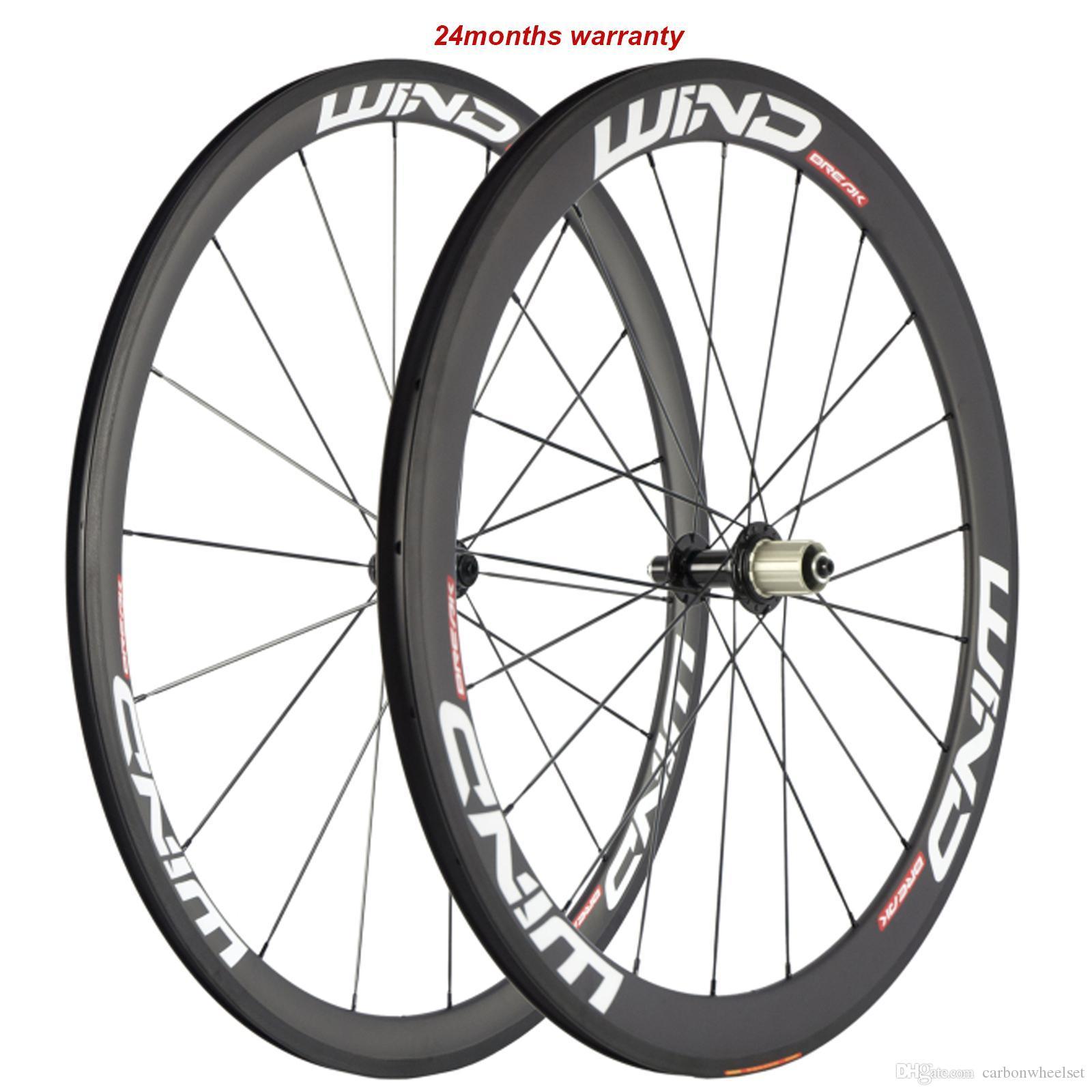 Una coppia anteriore 38 millimetri 50 millimetri posteriore in carbonio Ruote bicicletta della strada carbonio della graffatrice rotelle 700C 23 millimetri Larghezza