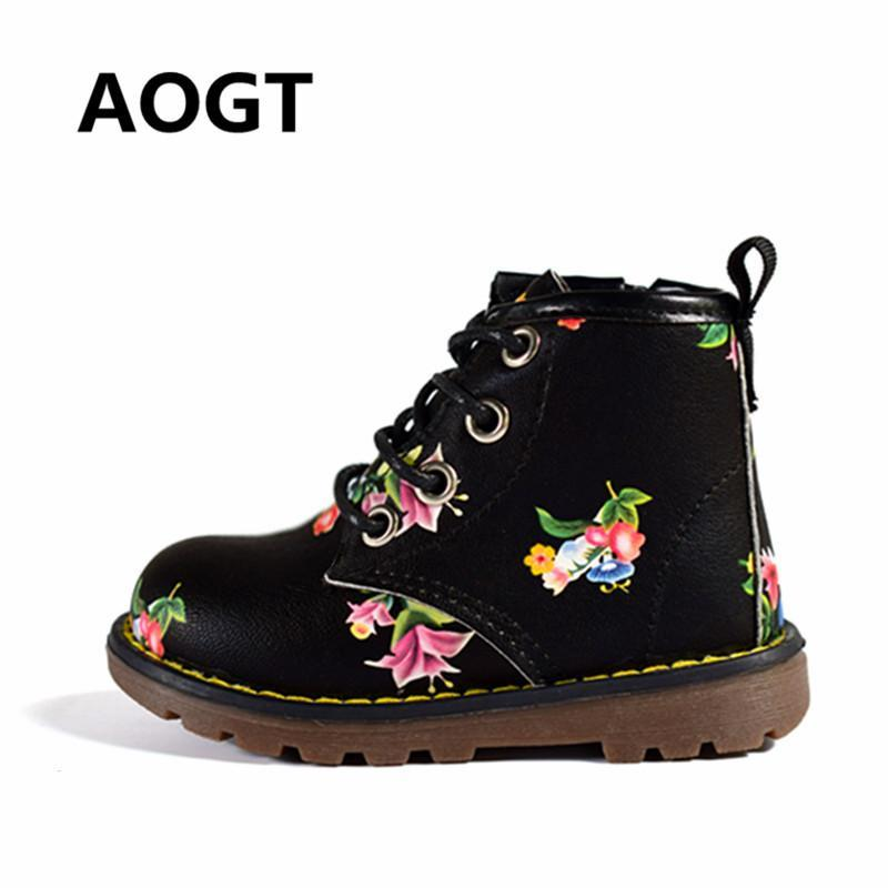 Girls Boots PU Leather Sweet Cute Baby
