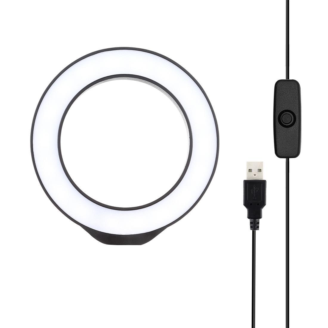 PULUZ 4.7 inch 12cm USB White Light LED Ring Vlogging Photography Video Lights