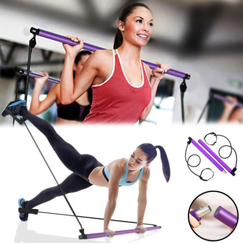 Yoga-Widerstand-Bänder Pilates-Stick Bodybuilding Crossfit Gym Gummi-Schlauch-elastische Bänder Fitness Equipment Training Exercise