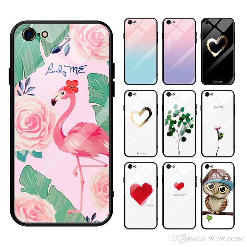 Customized Diy Phone Case Printed Tempered Glass Cover Phone Case