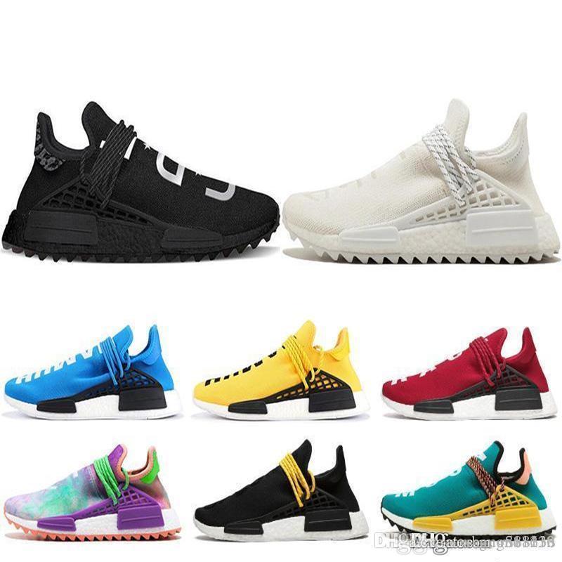 2019 дешевая человеческая раса Фаррелл Уильямс мужская женская спортивная обувь игра Mc Dye Solar Pack Mother designer Fashion