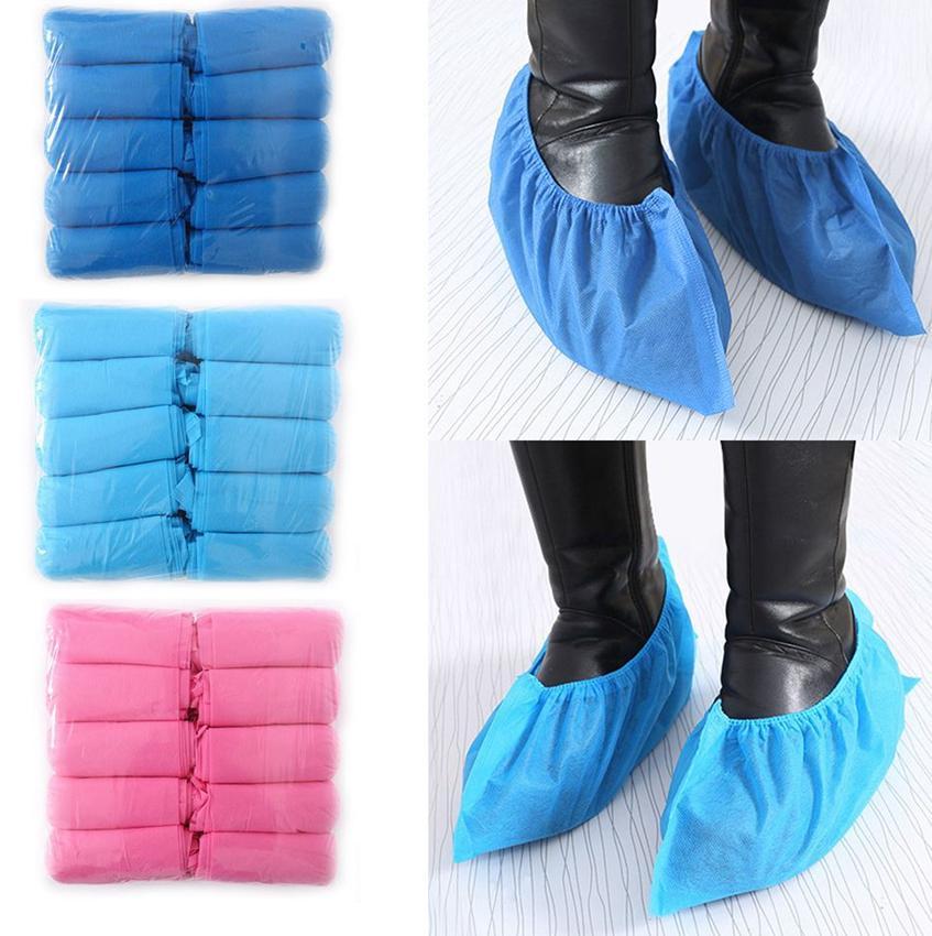 Одноразовые нетканые бахилы 100шт 1LOT Anti-Dust Одноразовая защитная Нетканые обуви Обложка для ног Обложка Обувь Protector LJJK2187