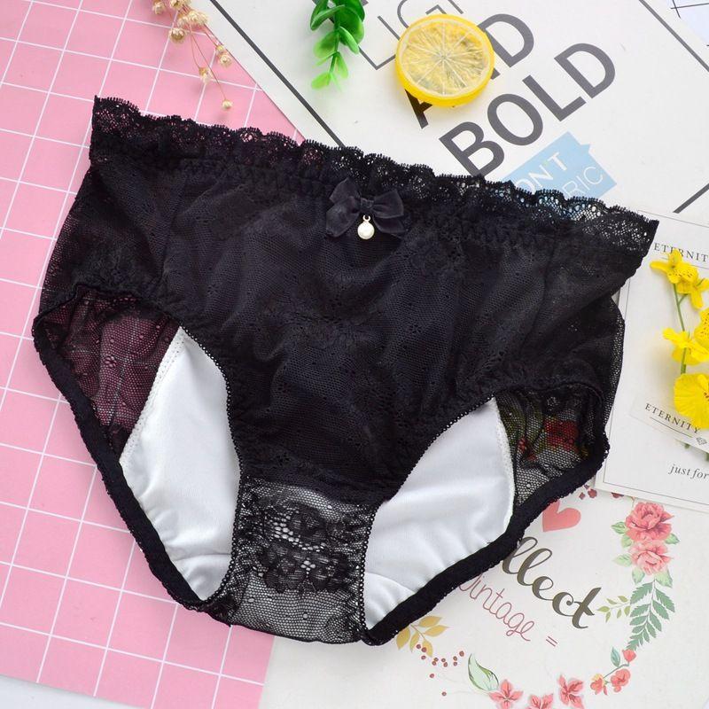 Intimates sexy de gros 3pcs femmes dentelle imperméables à l'eau menstruelles culotte # 543