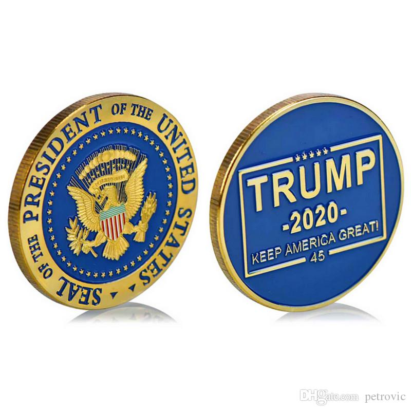 1Pc Donald Trump 2020 Keep America Great Commemorative Challenge Coin Wholesale