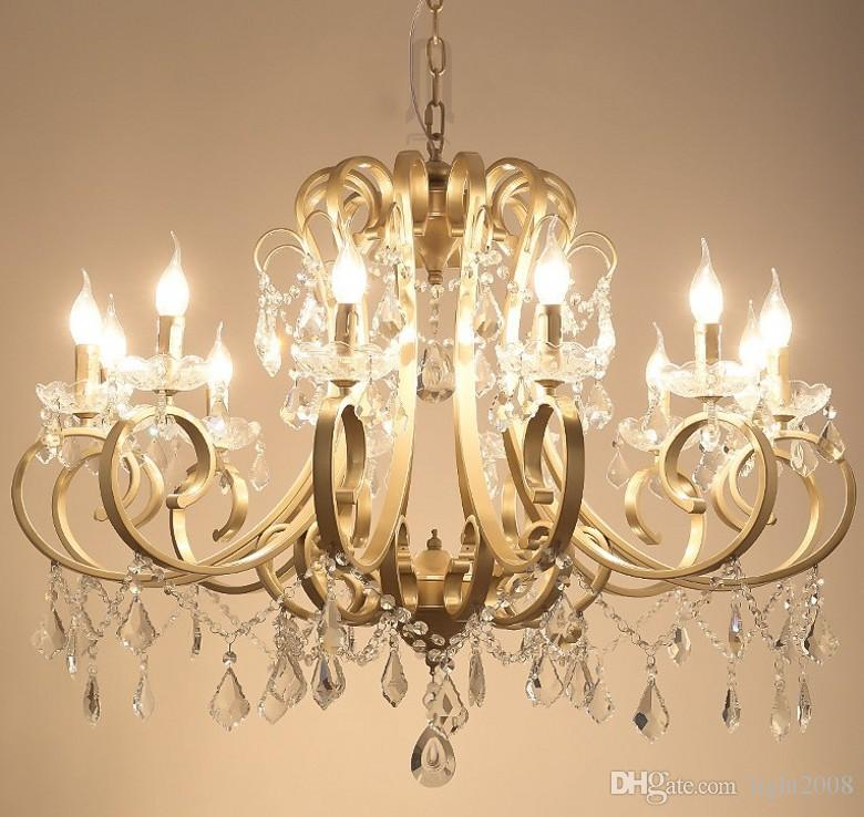 Christmas European Fashion Vintage Chandelier Ceiling lamp Candle Lights Lighting Fixtures Iron Home Lighting