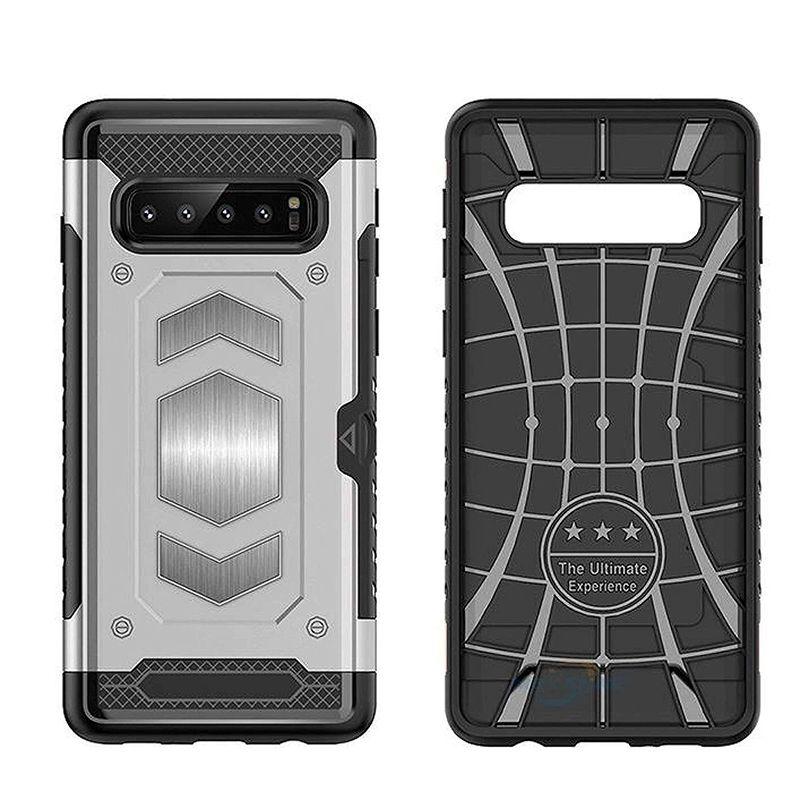 iPhone 11 pro max X 7 8 S10 S9 Artı İçin Kart Sahibinin ile Telefon Kılıfı Hibrid Zırh Kasa Sağlam Darbeye Defender Kutuları