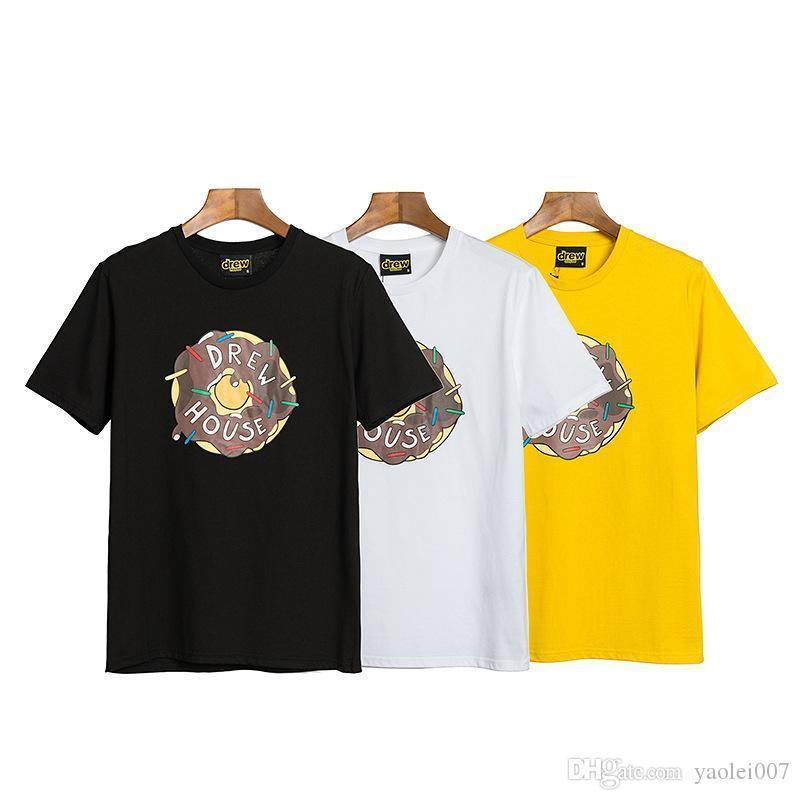 Роскошная мужская футболка высокого качества желтый мультфильм алфавит печати с короткими рукавами футболки негабаритных уличная пара лето короткая футболка
