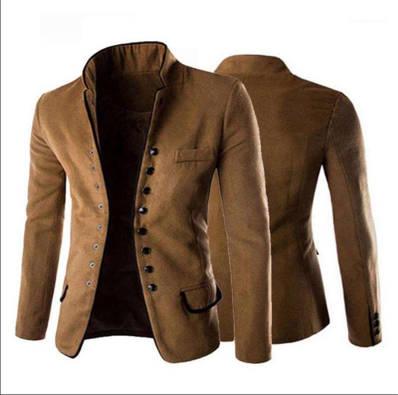 Outerwears hombre de la moda con solo pecho sólido para hombre otoño Blazers informal Diseñador delgada para hombre Ropa