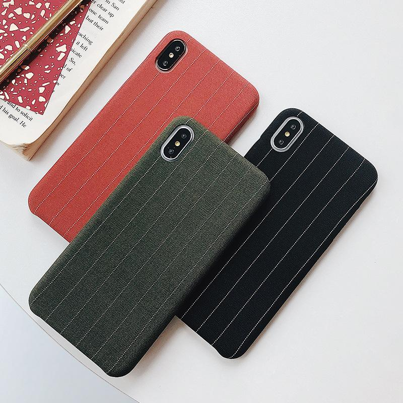huge selection of 15d94 621b9 Simple Velvet IPhone XSMax Mobile Phone Case Creative Velvet Stripe Three  Packs Of Soft Shell For Iphone6/6s/Plus,7/8,7plus/8 Cell Phone Cases Cheap  ...