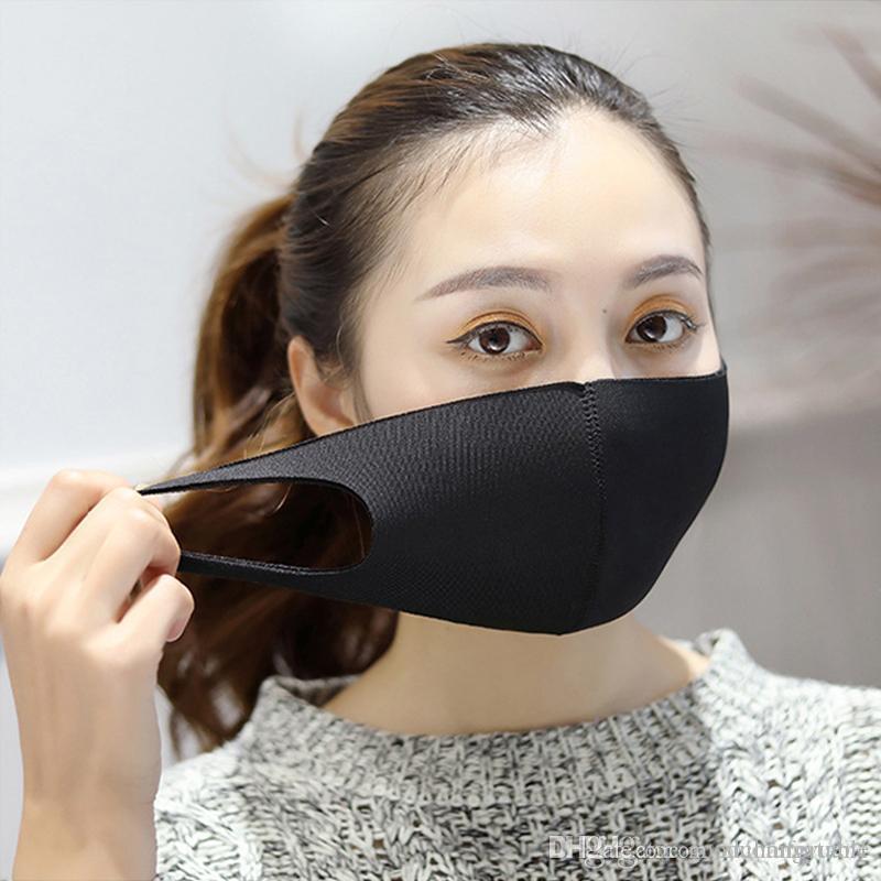 2020 preto anti-corrosão máscara PM 2,5 máscara de filtro de pó reutilizáveis respirador fêmea macho