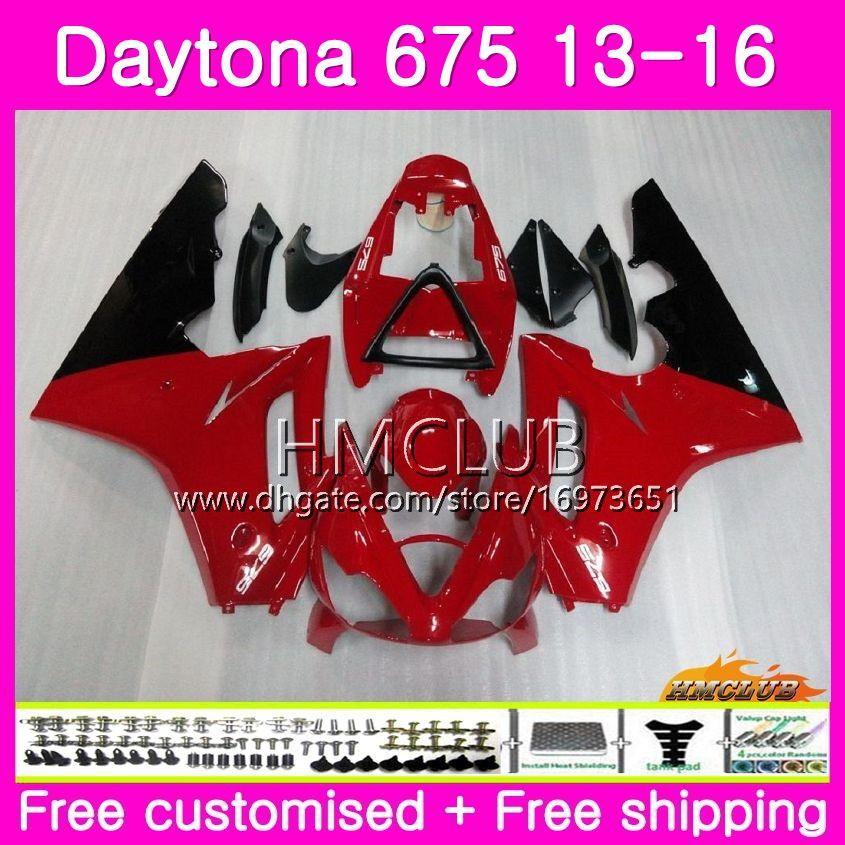 Gövde seti Triumph Daytona 675 13 14 15 16 Karoseri 45HM.11 Daytona-675 Daytona 675 Daytona675 2013 2014 2015 2016 Kırmızı Siyah Satış