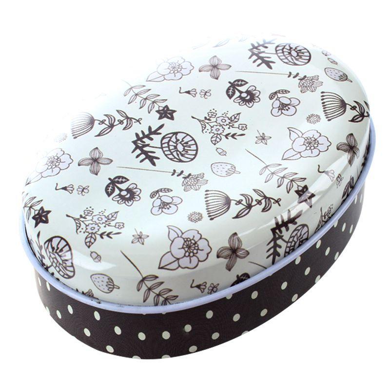1x créatif mini-boîte de rangement européenne de bonbons en forme de boîte à savon style mariage faveur étain Zakka maison conteneur pour câbles