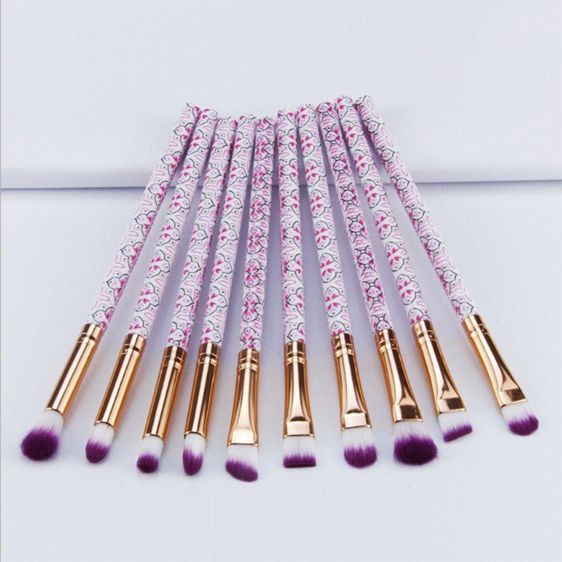 50pcs/Lot Eyeliner Makeup Brushes Set Women Make Up Tools Eyebrow Cosmetic Kit Bohemia Style Brush