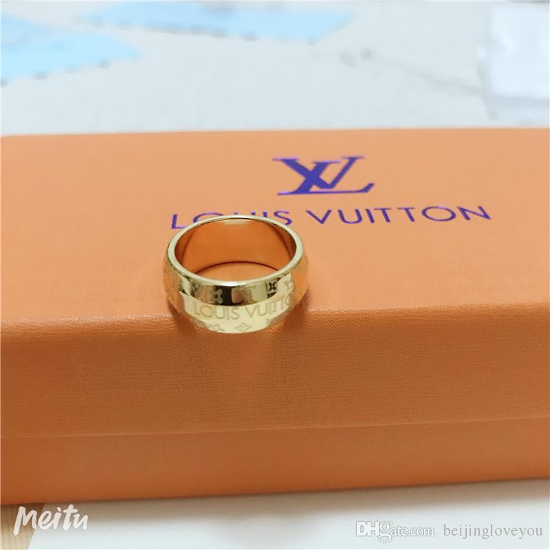 الموضة في باريس Designersss الملياردير خواتم الجديد إلكتروني للصدأ خواتم مطلية بالذهب الفولاذ المقاوم للنساء الرجال الهيب هوب مجوهرات خاتم