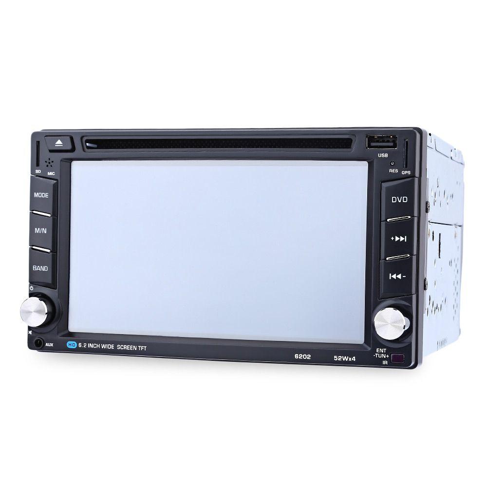 6202B 6.2 بوصة بلوتوث V3.0 راديو السيارة مزدوجة الدين سيارة دي في دي لاعب GPS الملاحة في اندفاعة ستيريو فيديو خريطة ميكروفون حر اليدين دعوة