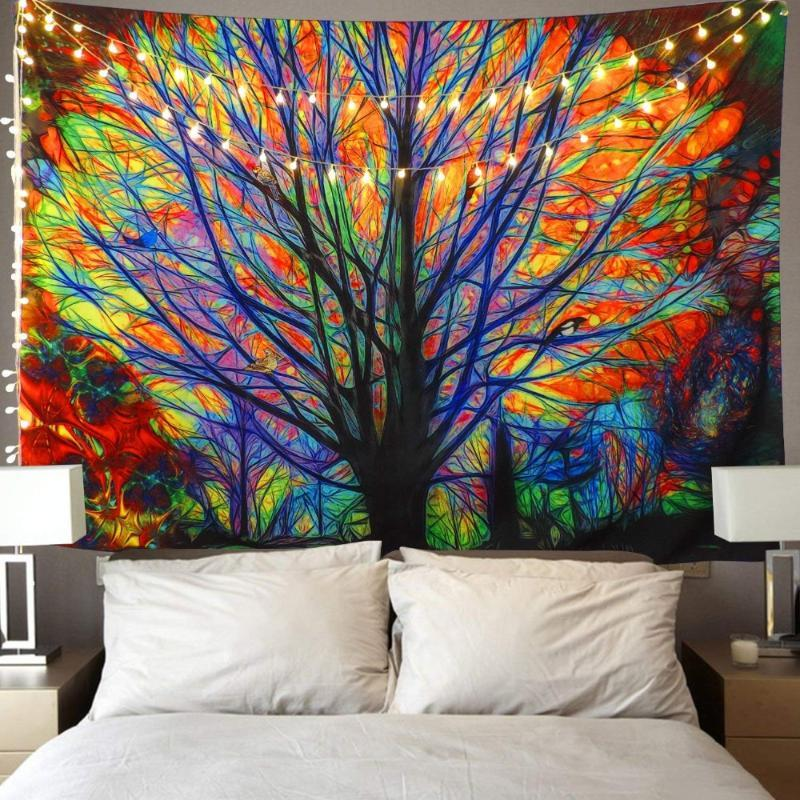 거실 던져 러그 담요 인쇄 카펫 판매 스타일 히피 태피스트리를 걸 180x230cm 크리스마스 태피스트리 벽