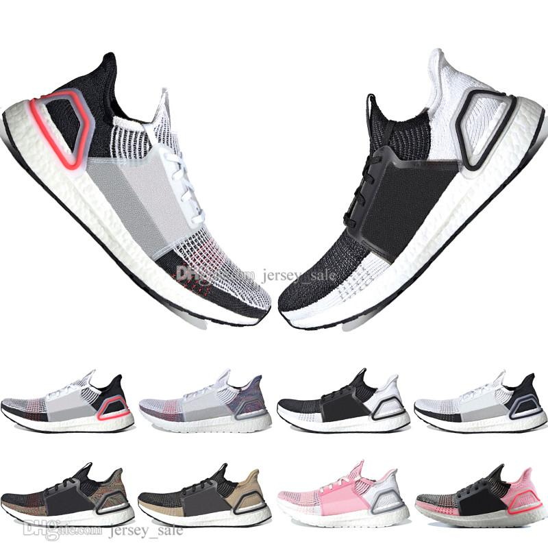 Pas cher New 2020 New Boost Ultra 19 hommes laser rouge Refract Oreo chaussures de course pour les hommes femmes UltraBoost UB 5.0 Sport Formateurs Sneakers