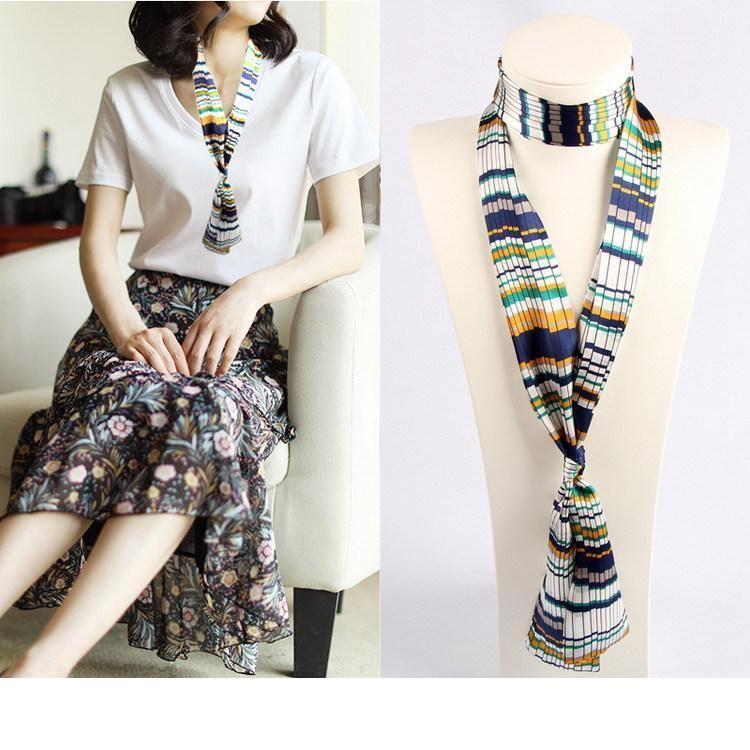 Designer Estate Delle Donne nuova striscia stretta piccola sciarpa coreana nastro decorativo nastro cintura capelli borsa maniglia borsa Twill di seta Sciarpa